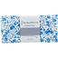Coupon tissu 50 cm fleuri bleu crème ex1058 - PPMC