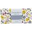 Coupon tissu 50 cm fleuri jaune gris crème ex1059 - PPMC
