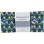 Coupon tissu 50 cm geometrical flowers green  yellow ex1071 - PPMC