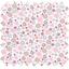 Coupon tissu 50 cm tapis de fleurs pastel ex1075