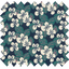 Coupon tissu 50 cm fleurs nocturne ex1078