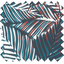 Coupon tissu 50 cm feuillage marine