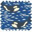 Coupon tissu 50 cm orque bleue