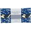 Coupon tissu 50 cm orque bleue - PPMC