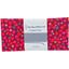 Coupon tissu 50 cm pompons cerise - PPMC