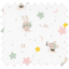 Coupon tissu 50 cm souris rêveuses