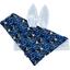 Doudou Lapin orque bleue - PPMC
