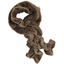 Twisted fleece scarf camel - PPMC