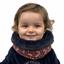 Echarpe tube enfant feuillage vermillon