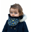 Children fur scarf snood  melting plum'