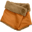 Children fur scarf snood caramel golden straw - PPMC