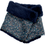Children fur scarf snood paquerette marine - PPMC