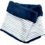 Echarpe tube enfant rayé bleu blanc - PPMC