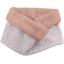 Fleece scarf snood triangle cuivré gris - PPMC