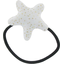 Pony-tail elastic hair star white sequined - PPMC