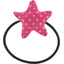Pony-tail elastic hair star etoile or fuchsia - PPMC