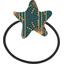 Elastique cheveux étoile eventail or vert - PPMC
