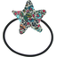 Pony-tail elastic hair star flower mentholated