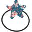 Pony-tail elastic hair star fleuri nude ardoise - PPMC