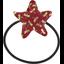 Estrella elástica del cabello libélula rojo - PPMC