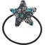 Elastique cheveux étoile milli fleurs vert azur - PPMC