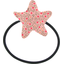 Pony-tail elastic hair star mini pink flower - PPMC