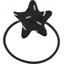 Elastique cheveux étoile  paille dorée noir - PPMC