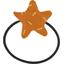 Elastique cheveux étoile paille dorée caramel - PPMC