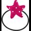 Elastique cheveux étoile pois fuchsia