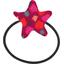 Elastique cheveux étoile pompons cerise - PPMC