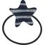 Pony-tail elastic hair star striped silver dark blue