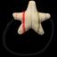 Elastique cheveux étoile rayé rose argent - PPMC