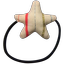 Estrella elástica para el pelo rayas rosa plata - PPMC