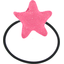 Pony-tail elastic hair star rose pailleté - PPMC