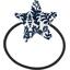 Elastique cheveux étoile scandinave marine - PPMC