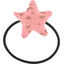 Pony-tail elastic hair star triangle or poudré - PPMC