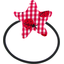 Pony-tail elastic hair star ladybird gingham