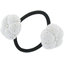 Japan flower pony-tail holder white sequined - PPMC