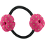 Japan flower pony-tail holder etoile or fuchsia - PPMC