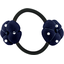 Japan flower pony-tail holder navy blue spots - PPMC