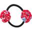 Goma de pelo con flores aciano cherry - PPMC