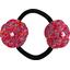 Goma de pelo con flores azafrán grosella - PPMC