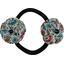 Goma de pelo con flores flor mentolada - PPMC