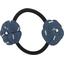 Goma de pelo con flores jeans de paja plateados - PPMC