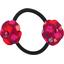 Elastique fleur du japon pompons cerise - PPMC