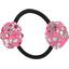 Goma de pelo con flores rosado violeta - PPMC