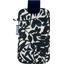 Big phone case black linen foliage  - PPMC