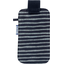 Phone case striped silver dark blue - PPMC