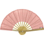 Hand-held fan mini pink flower - PPMC