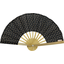 Hand-held fan golden straw - PPMC